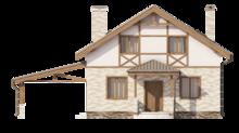 Compact māja 8*9 klasiskā stilā