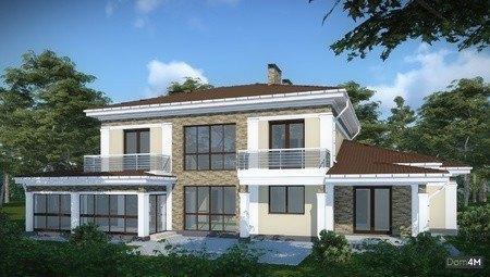 Projekts lauku māja divām ģimenēm
